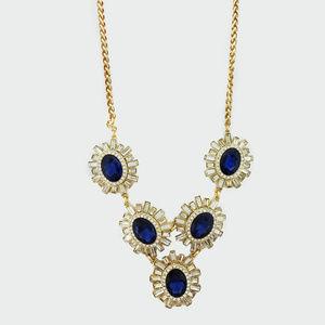 Charter Club  Blue/Baguette Crystal Necklace$ 95.0
